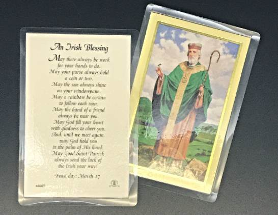 An Irish Blessing St. Patrick Laminated Prayercard 25/PK