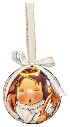 Angel Lighted Nose Ball Ornament