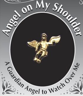 Angel On My Shoulder Lapel Pin - 10346