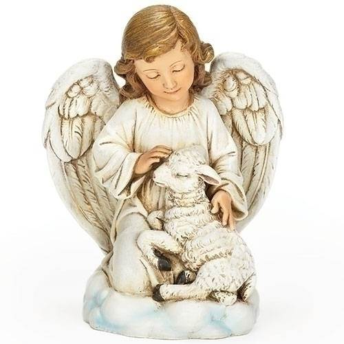 Angel and Lamb Figure
