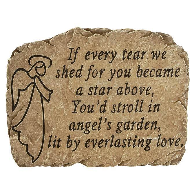 Angels Garden Stepping Stone garden stone, stepping stone, lawn decor, yard decor, memorial gift, 30097