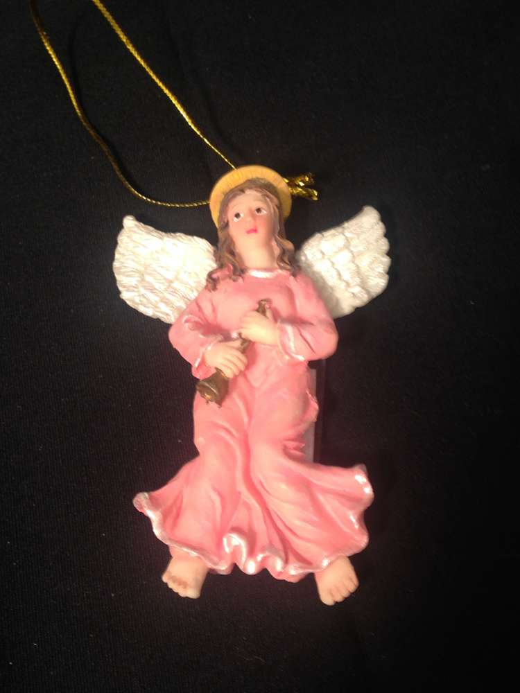 Angel with Trumpet Ornament angel ornament, christmas ornament, musical angel, resin ornament, tree decor, christmas decor, 12053