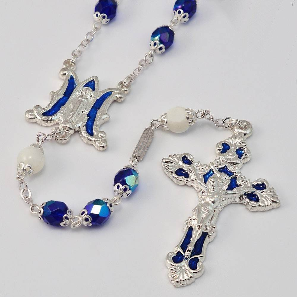 Annunciation Silver Plated Rosary