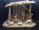 "Anri? Wood Carved Nativity 6"" 5pc Figures with Stable Anri? Wood Carved Nativity 6"" Figures with Stable, ANRI, wood, woodcarved, nativity, italy, creche, krippe, kuolt"