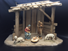 "Anri Wood Carved Nativity 6"" 5pc Figures with Stable *WHILE SUPPLIES LAST*"