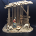 "Anri Wood Carved Nativity 6"" 5pc Figures with Stable"