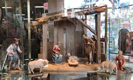 "Anri? Wood Carved Nativity 6"" 8pc"