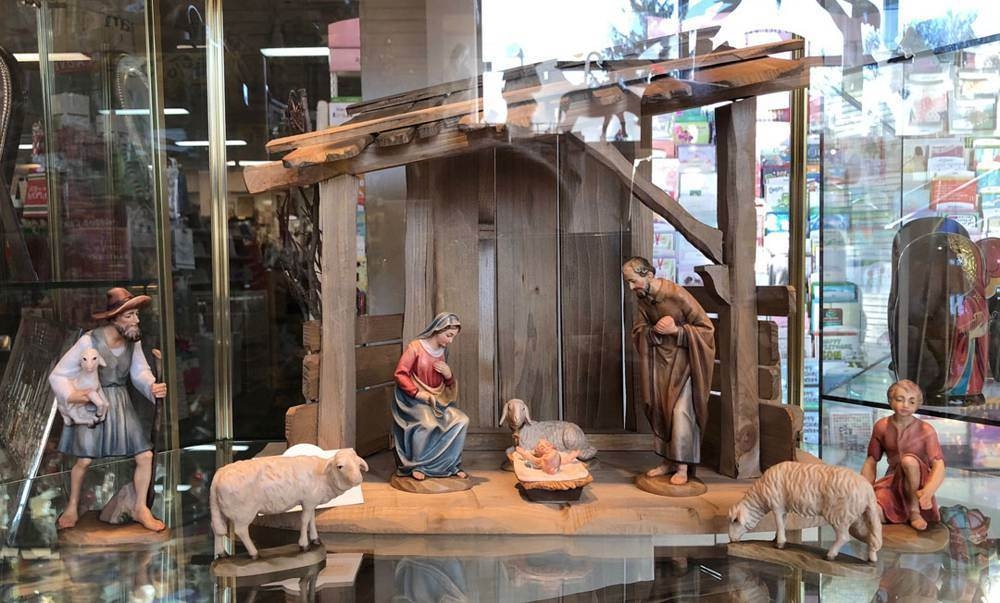 "Anri� Wood Carved Nativity 6"" 8pc"