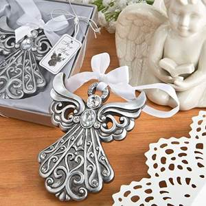 Antique Silver Finish Angel Ornament