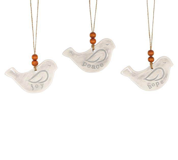 Assorted Bird Shaped Ceramic Ornaments