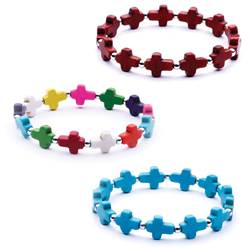 Assorted Childrens Cross Bracelets