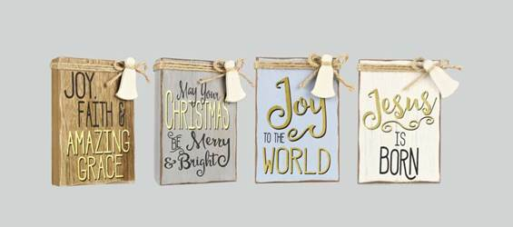 Assorted Christmas Block Signs