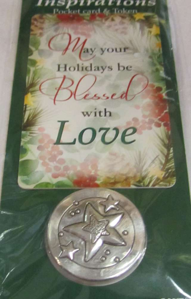 Assorted Christmas Inspiration Pocket Token and Card *WHILE SUPPLIES LAST* pocket token, message pocket tokens, message crosses, pocket cross, inspired quotes, prayer tokens, retreat gifts, group gifts, party favors, christmas pocket tokens, EX28885A