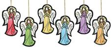 Assorted Colorful Angel Ornaments