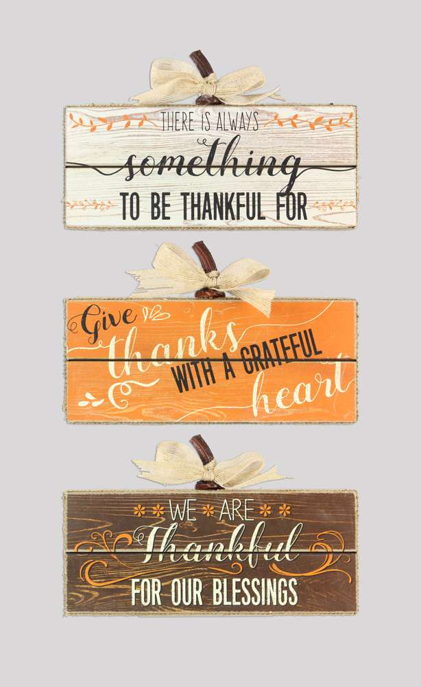 Assorted Fall Table Box Signs