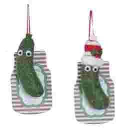 Assorted Felt Christmas Pickle Ornaments