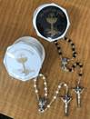 Assorted First Communion Rosaries in Twist Off Cases