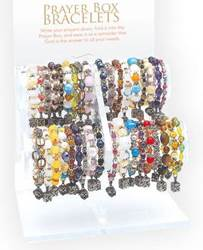 Assorted Gemstone Prayer Box Bracelet