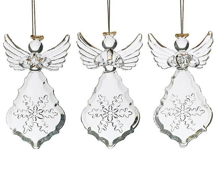 Assorted Glass Angel Ornaments