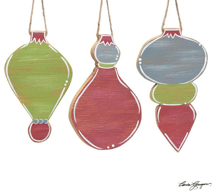 Assorted Hand Painted Wood Ornaments *WHILE SUPPLIES LAST*