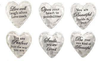 Assorted Heart Pocket Tokens pocket token, message pocket tokens, message crosses, pocket cross, inspired quotes, prayer tokens, retreat gifts, group gifts, party favors, ER34630