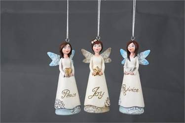 Assorted Lace Wing Angel Ornaments