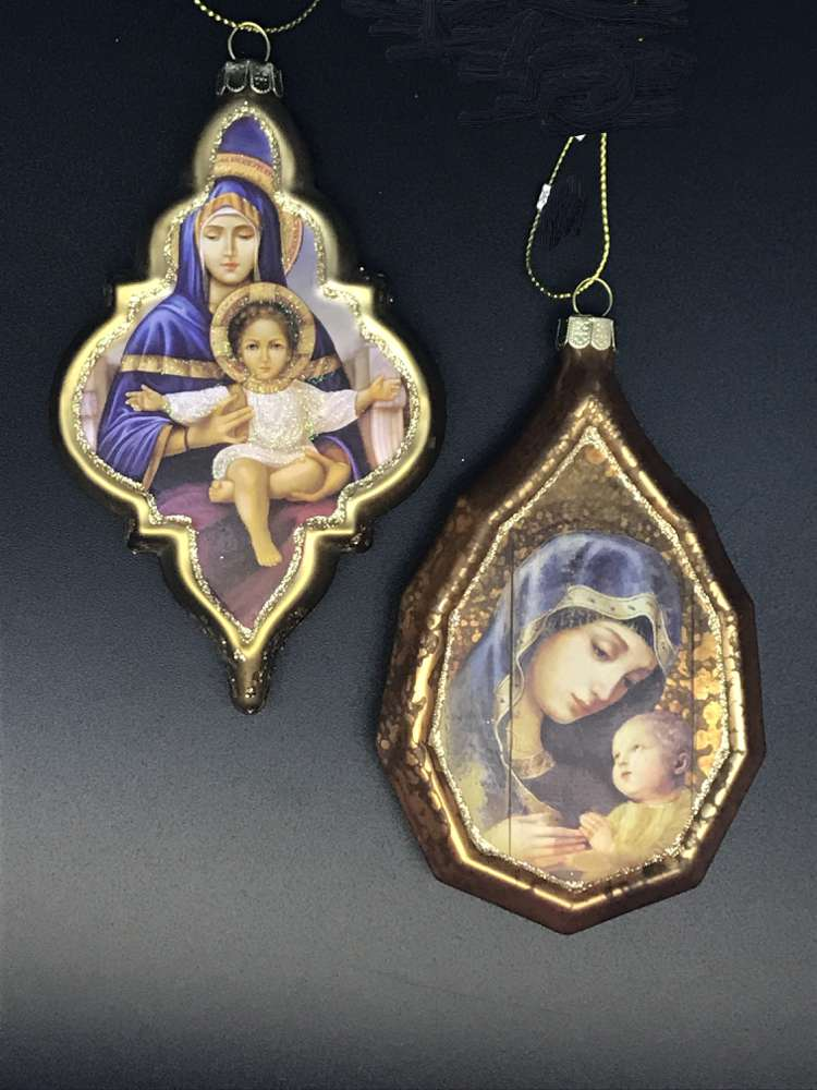 Assorted Madonna and Child Orname