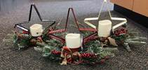 Assorted Metal Star Candle Holders