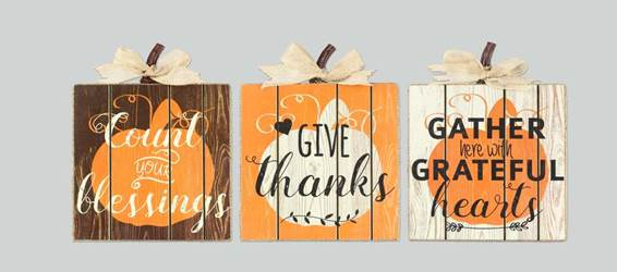 Assorted Pumpkin Table Box Signs