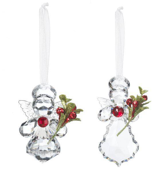 Assorted Teeny Mistletoe Angel Ornament