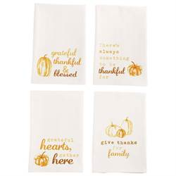 Assorted Thanksgiving Gather Dish Towel
