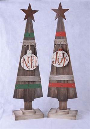 Wood Plank Christmas Tree