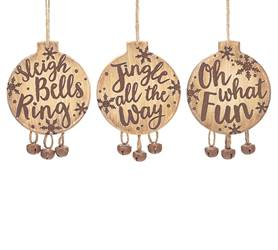 Assorted Wood and Bells Ornaments *WHILE SUPPLIES LAST*