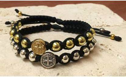Asst Happiness St. Benedict Blessing Bracelets blessing bracelet, medjugorje, medjugorje bracelet, blessed, happy, happiness bracelet, joy, grateful for you, thank you gift, love you, teacher gift, friend gift