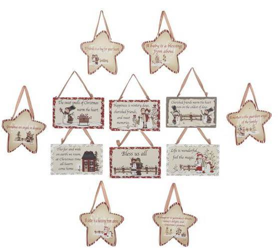 Asst Holiday Plaques With Sayings