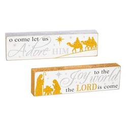 Asst Nativity Tabletop Signs with Text
