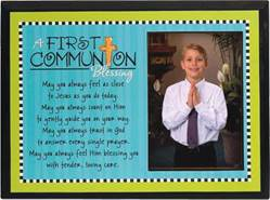 Communion Blessing Frame*WHILE SUPPLIES LAST* first communion frame, first communion gift, hanging frame, table top frame, blessing frame,boy gift, girl gift, photo frame