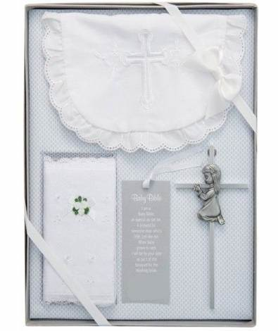 Baby Boxed Gift Set baby gift, baby set, gift set, bib, bible cover, cross, boy, girl, baptism gift, christening gift, shower gift, 97120, 97122