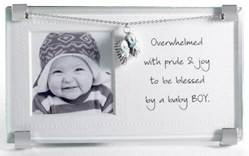 Baby Boy Glass Frame new baby, new baby gift, new baby frame, glass frame, baptism, baptism gift, baptism frame, christening, christening frame, christening gift, baby boy, baby boy, frame, shower gift,