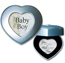 Baby Boy Wish Come True Cottage Garden Traditional Petite Heart Music Box Plays Call You Sweetheart