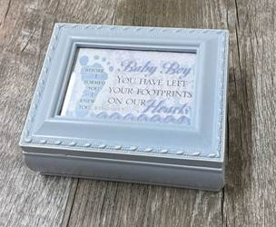 Baby Boy Tiny Square Blue Box