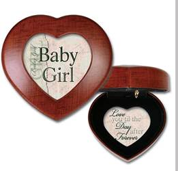 "Baby Girl/Heart Shaped Music Box/Woodgrain Plays ""Let Me Call You Sweetheart"""