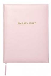 Baby Memory Book - Pink Bonded Leather