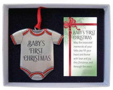 "Baby's First Christmas 3"" Ornament"