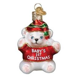 Babys First Christmas Teddy Bear Ornament