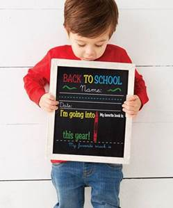 DOUBLE SIDED BIRTHDAY/BACK TO SCHOOL CHALKBOARD
