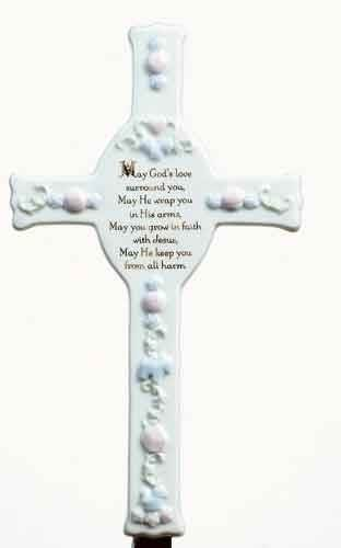 Baptism Wall Cross new baby gift, baby gift, baptism gift, christening gift, boy gift, girl gift, baby cross, wall cross, baptism cross, christening cross, girl cross, boy cross, bless this child cross