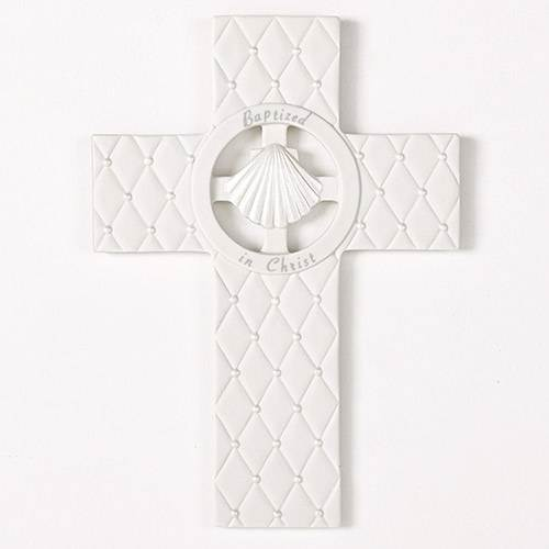 "Baptized In Christ 7 1/2"" Wall Cross"