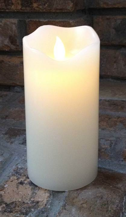 Battery Operated Motion Flame Pillar Candle