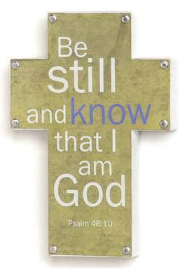 """Be still and know that I am God"" Wall Cross wall cross, wall cross no corpus, cross gift, wedding gift, sacramental gift, first communion gift, confirmation gift, RCIA gift, reconciliation gift, metal cross, wood cross, wall art"